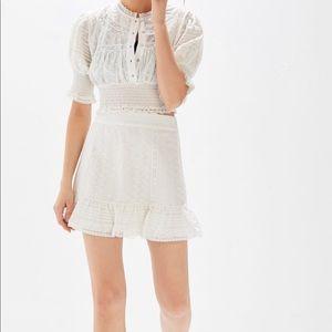 UO Victorian eyelet ruffle mini skirt